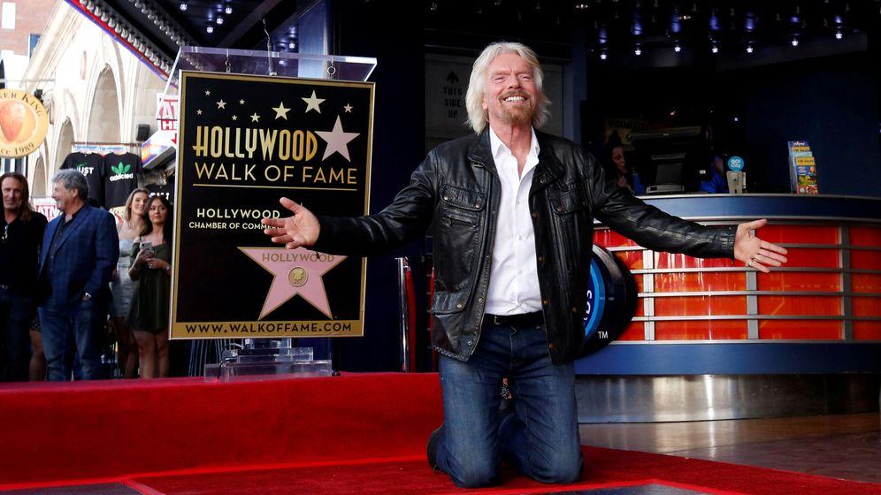 Foto: Richard Branson, en su estrella en el Paseo de la Fama (Reuters)