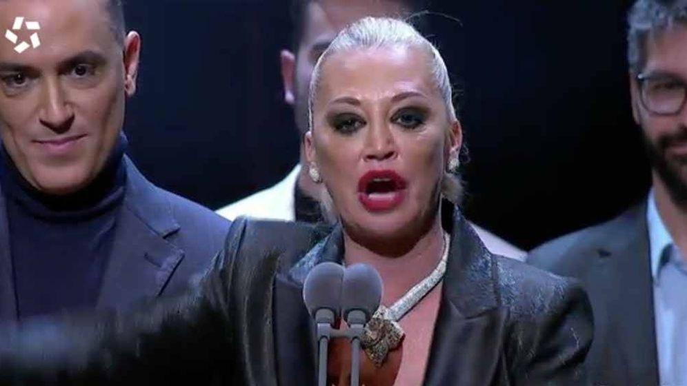Foto: Belen Esteban, en los Premios Iris 2019. (Telemadrid)