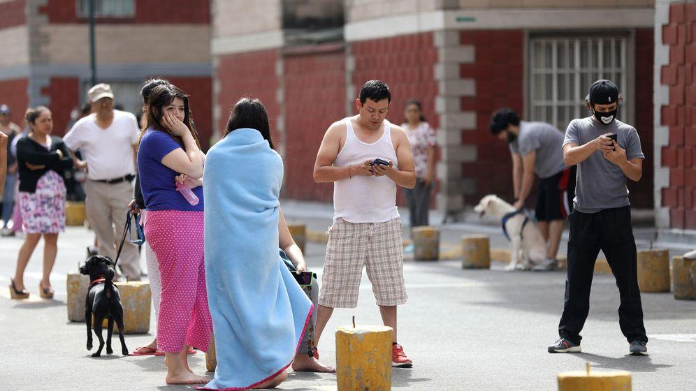 Foto: Un sismo de magnitud 7,1 sacude el sur y centro de México. (EFE)