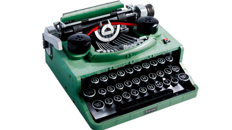 Lego pone a la venta una máquina de escribir real con más de 2.000 piezas