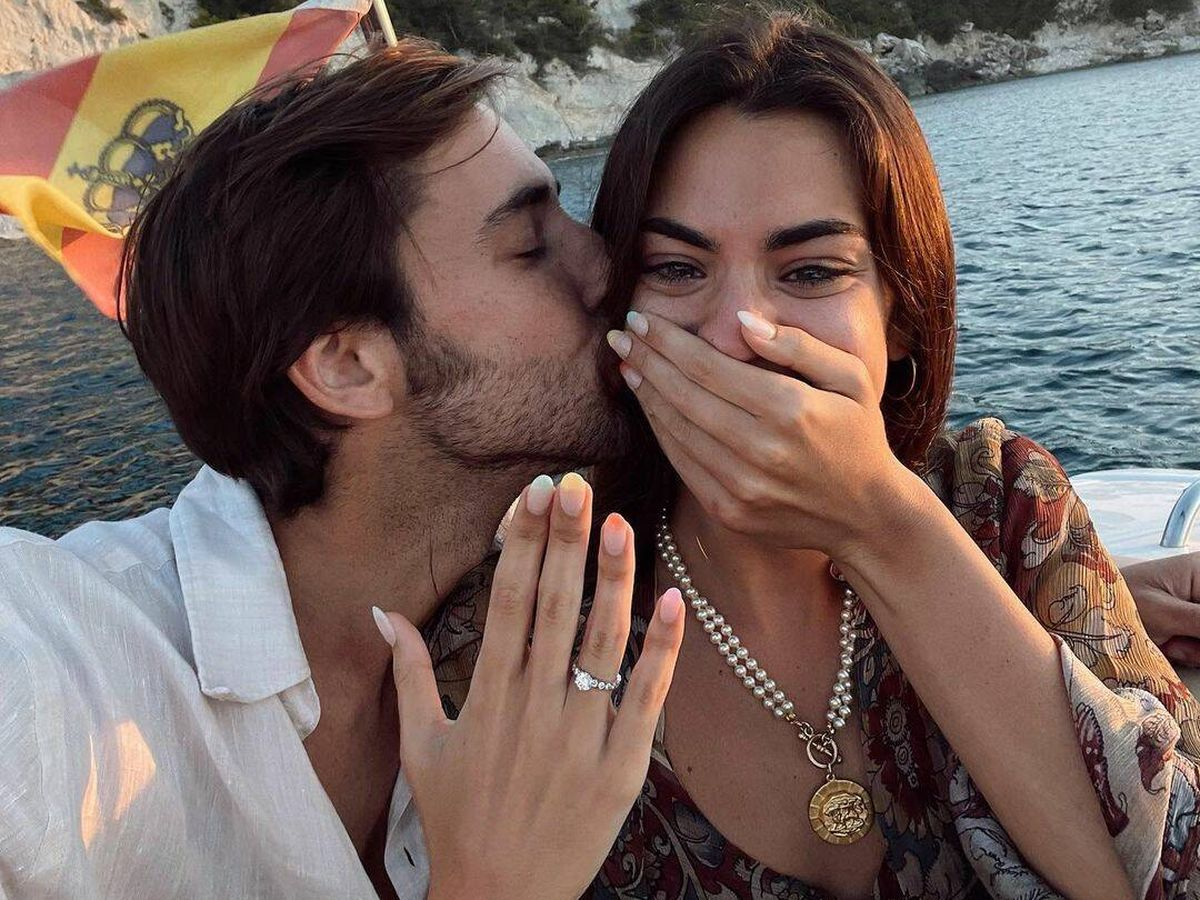 Foto: Marta Lozano y Lorenzo Emohi se casan. (Redes)