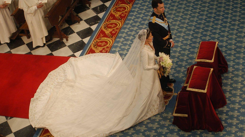 El vestido de la Reina visto desde arriba. (CP)