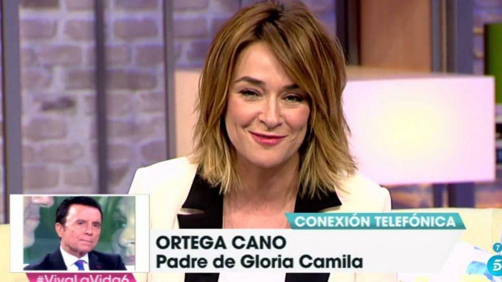 Foto: Toñi Moreno conecta en directo con Ortega Cano en 'Viva la vida'.