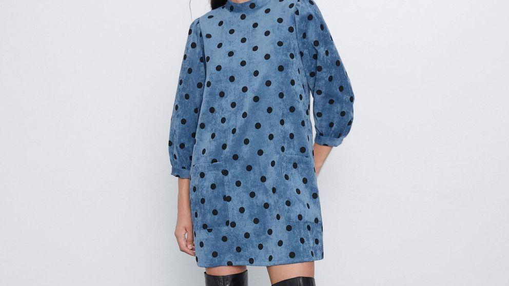 El vestido de pana de Zara para una Nochevieja trendy y calentita