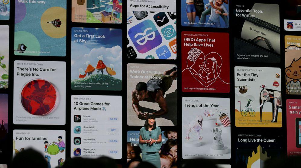 Foto: Imagen de la App Store en el evento Apple Worldwide. (REUTERS)