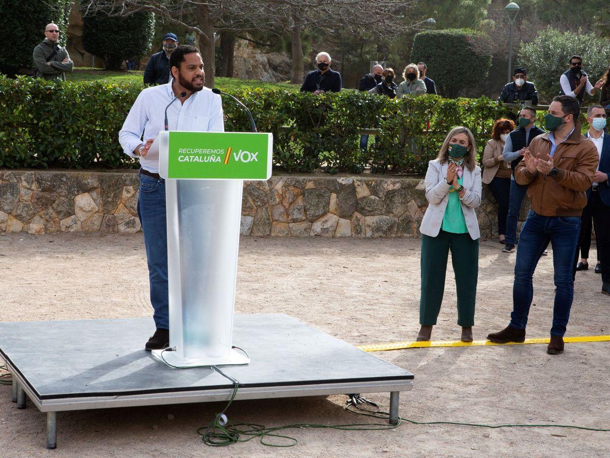 Foto: El candidato de Vox a la Generalitat, Ortega Smith. (EFE)