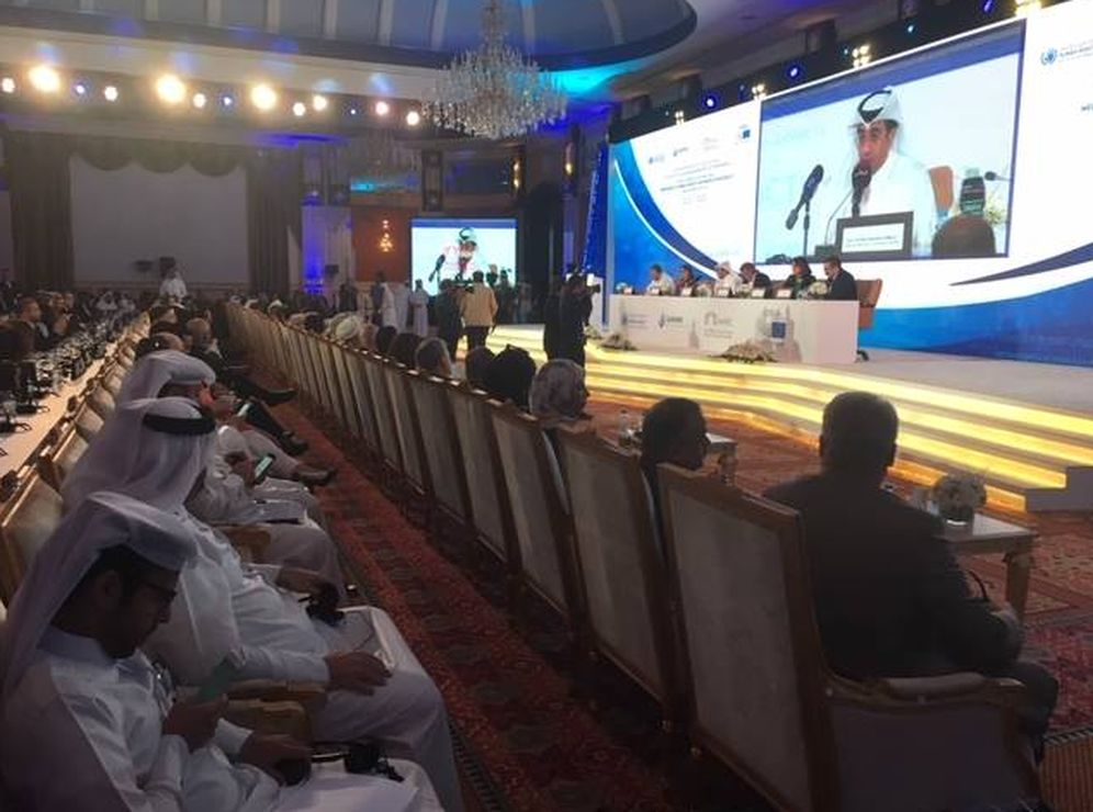 Foto: Imagen de la conferencia internacional celebrada en Doha, la capital de Qatar. (Carlos Sánchez)