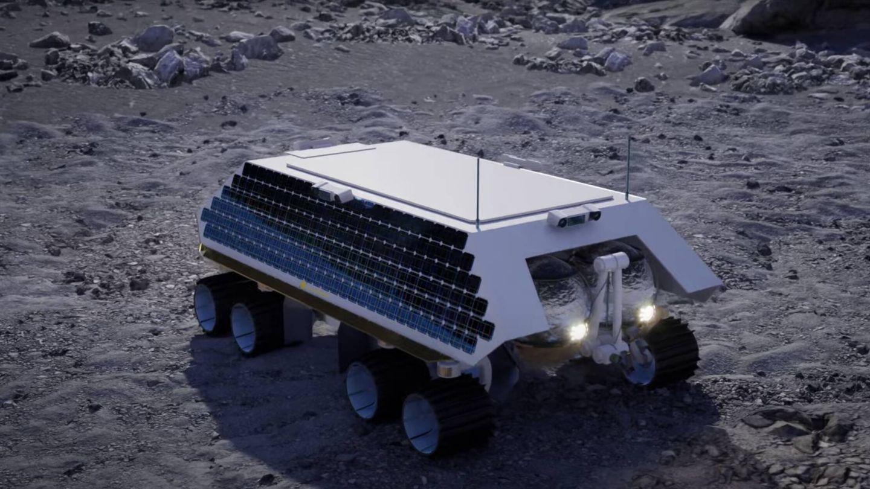 Diseño del Rocket M con su cobertura y los paneles solares (Masten Space Systems)