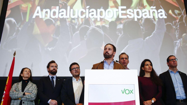Foto: Santiago Abascal, esta mañana, en Sevilla (Reuters).