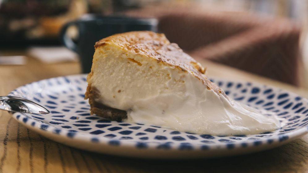 Foto: Tarta de queso de La Bientirada, lista para degustar.