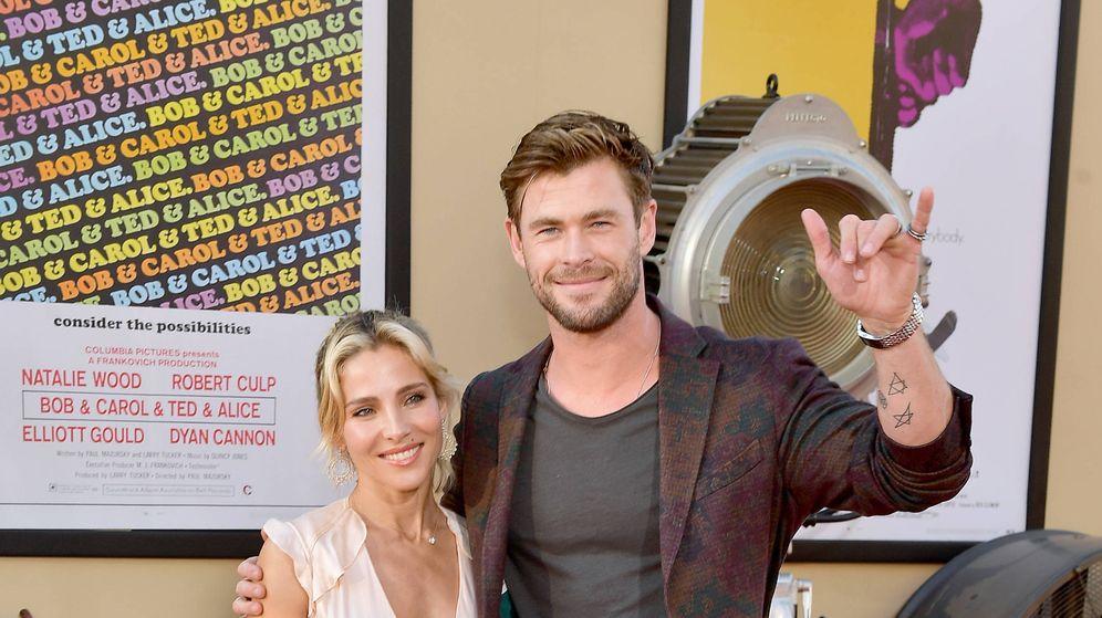 Foto: Elsa Pataky y Chris Hemsworth en la première de 'Once Upon a Time in Hollywood'. (Getty)