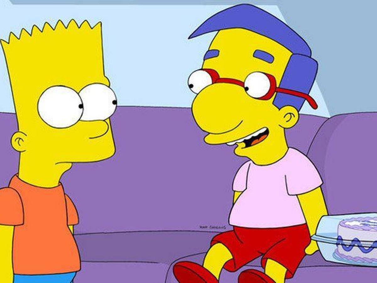 Foto: Milhouse, junto a Bart Simpson. (Fox)