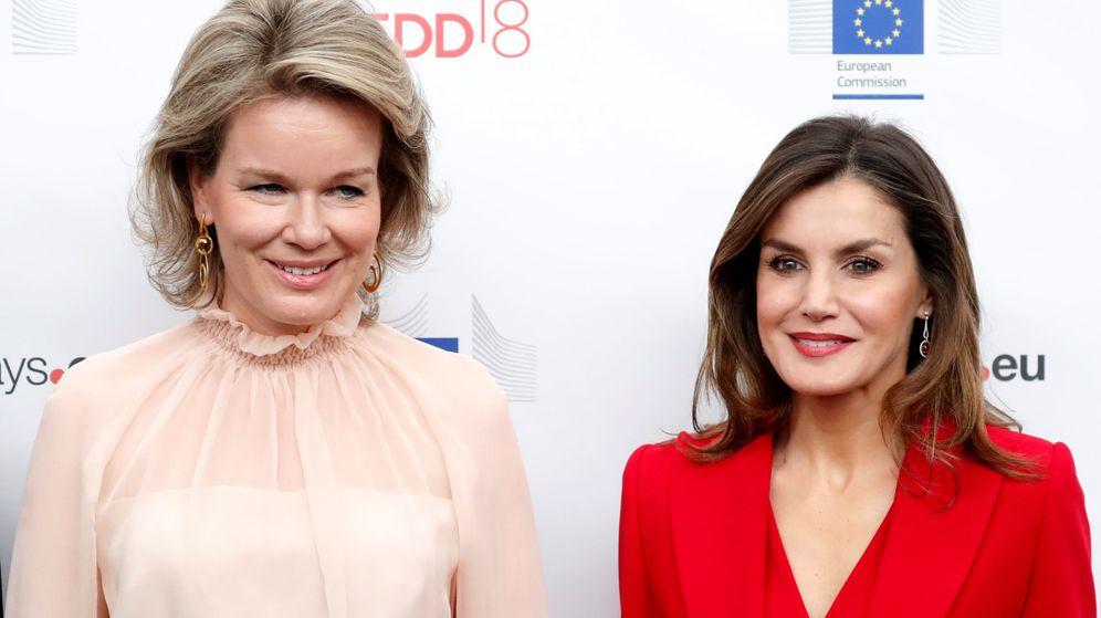 Foto: Las reinas Letizia y Matilde en Bruselas. (Reuters)