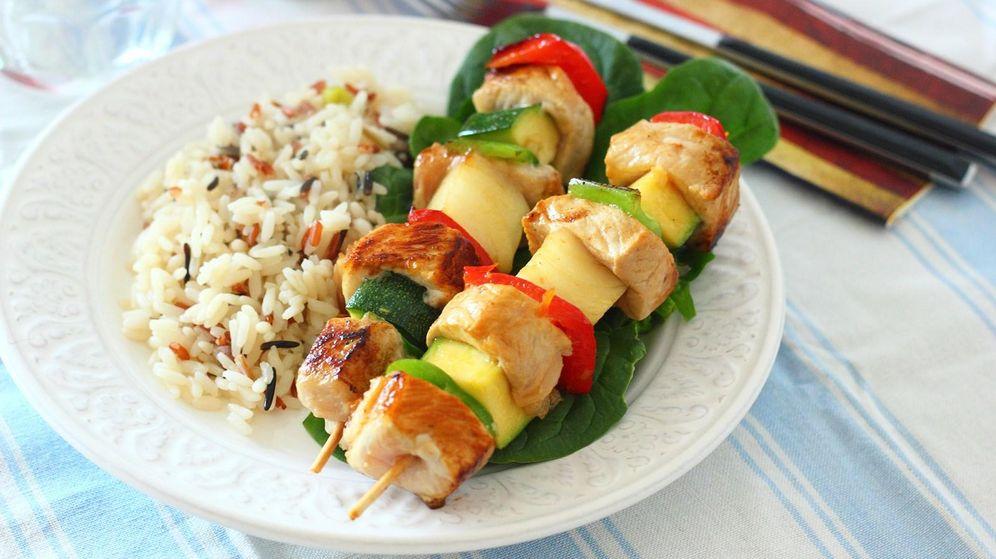 Foto: Brochetas de lomo y verduras (Mer Bonilla)