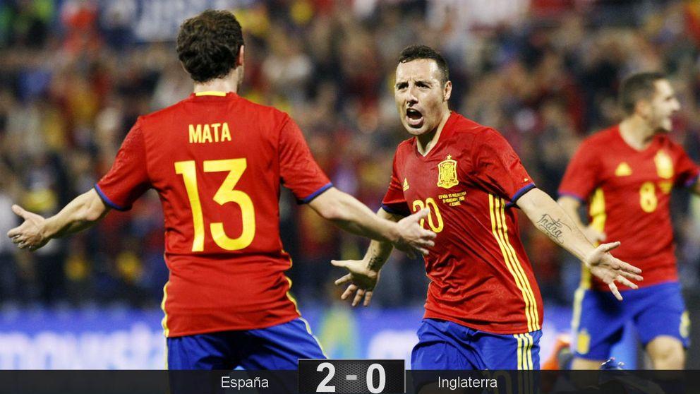 España tumba a Inglaterra con dos genialidades de Mario Gaspar y Cazorla