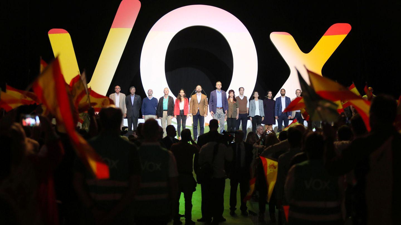 Los dirigentes de Vox en Vistalegre en 2018. (EFE)