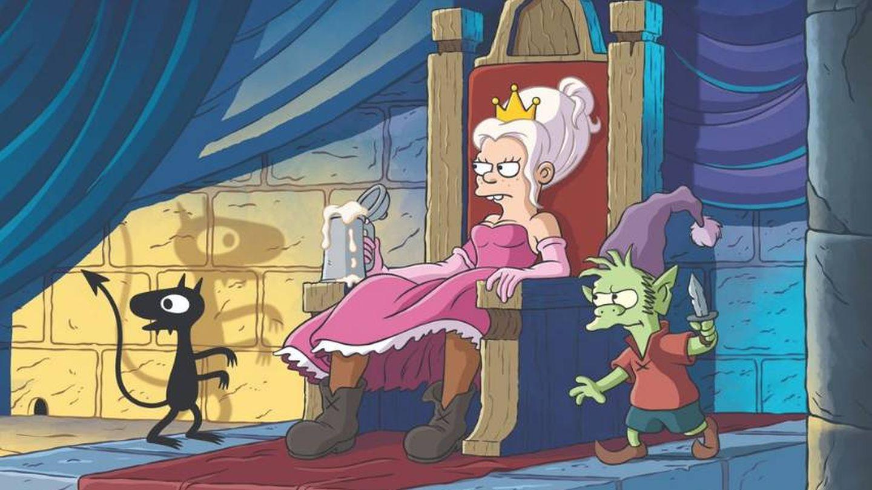 Bean con el demonio Luci y Elfo, el elfo (Netflix)