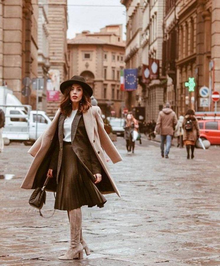 Foto: Lidia Bedman, el año pasado en Florencia. (Instagram @lidiabedman)