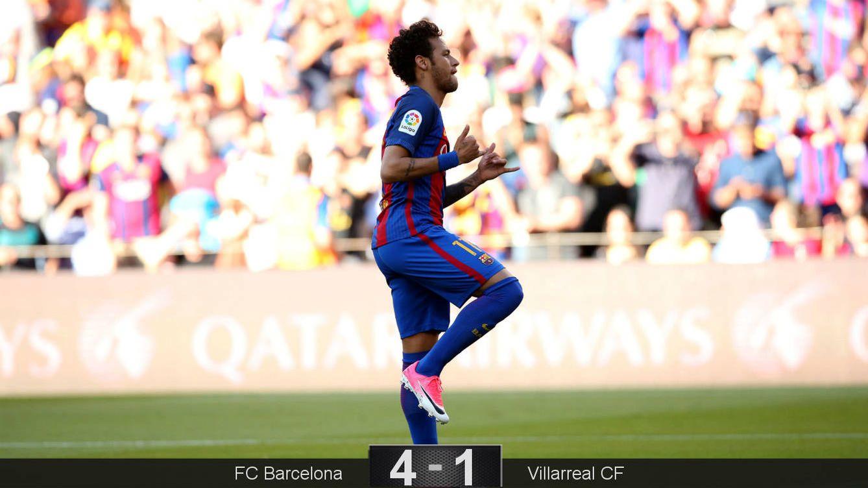 Foto: neymar celebra el 1-0 en el FC Barcelona-Villarreal CF de este sábado en el Camp Nou. (Reuters)