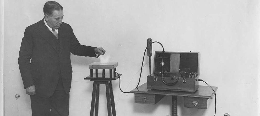 Foto: Mónico Sánchez en una demostración de su invento