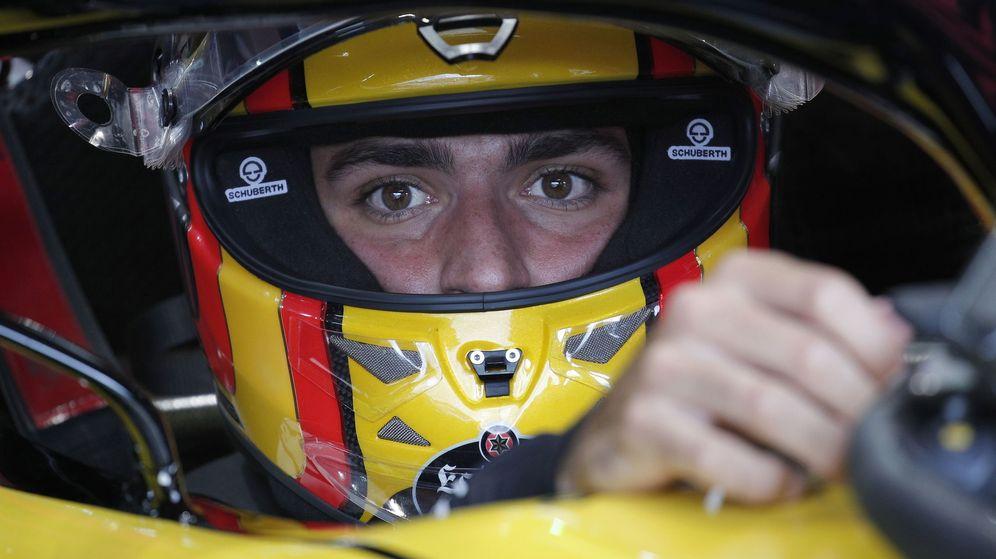 Foto: Sainz se encontró muy cómodo al volante de su RS18 y tiene muy buenas sensaciones este fin de semana. (EFE)
