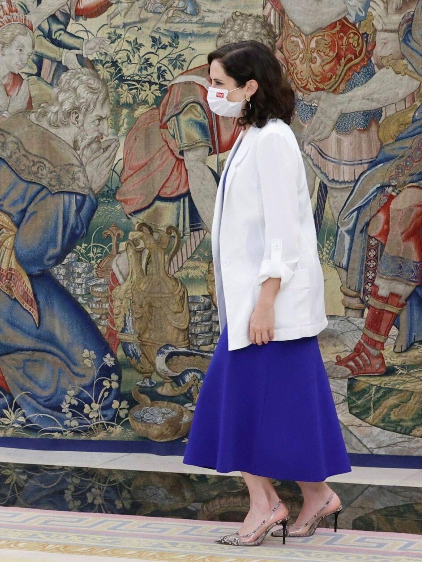 El look completo de Isabel Díaz Ayuso. (EFE)