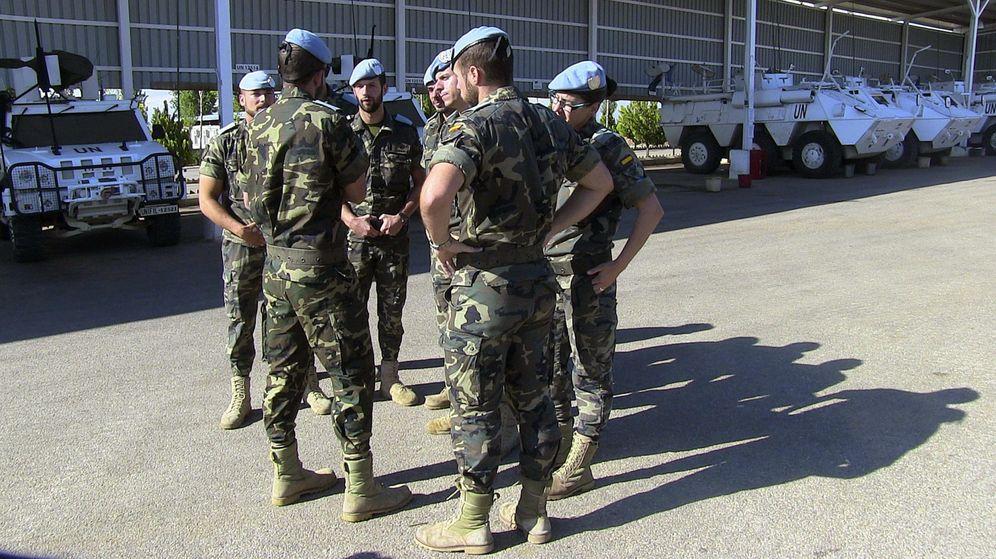 Foto: Base Miguel de Cervantes al sur del Líbano. (EFE)