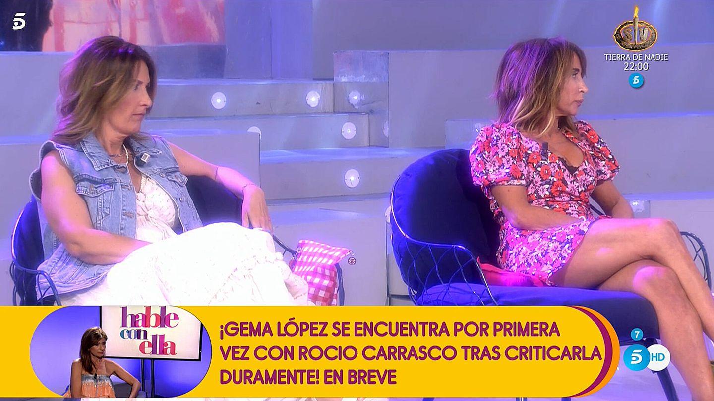 Laura Fa y María Patiño, en 'Sálvame'. (Telecinco)