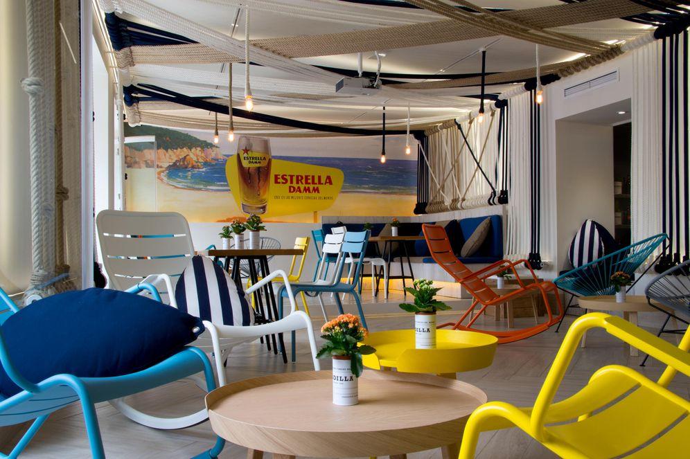 Foto: El espacio Lounge Estrella Damm, en el Rodilla de la Puerta del Sol de Madrid
