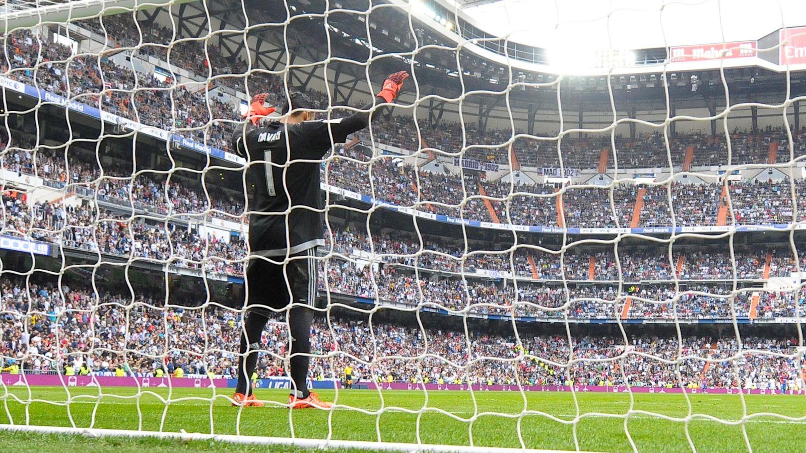 Foto: Keylor Navas, en el partido contra el Levante en el Bernabéu