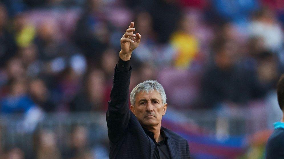 Foto: Quique Setién en el último partido liguero ante el Eibar. (EFE)