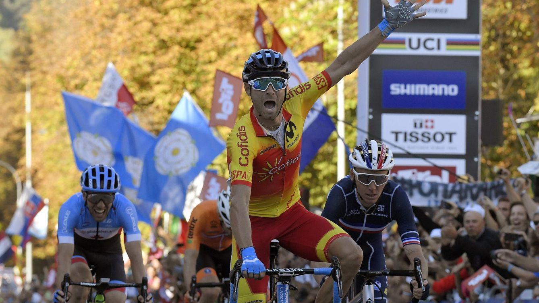 Foto: Valverde gana el Mundial de Innsbruck el 30 de septiembre de 2018. (EFE)