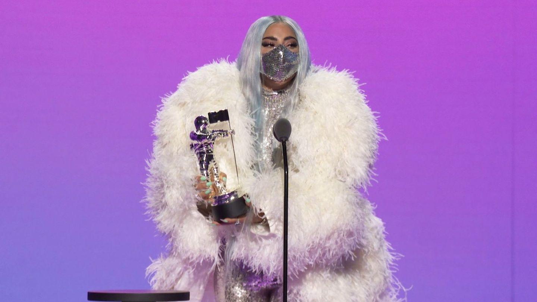 Lady Gaga y sus mascarillas. (EFE)