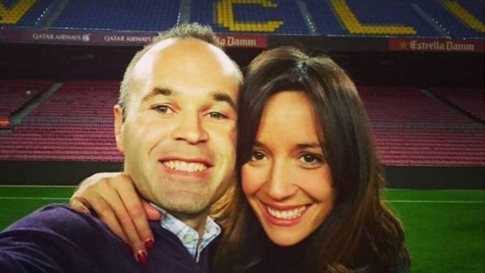 Foto: Andrés Iniesta y Anna Ortiz. (RR.SS)