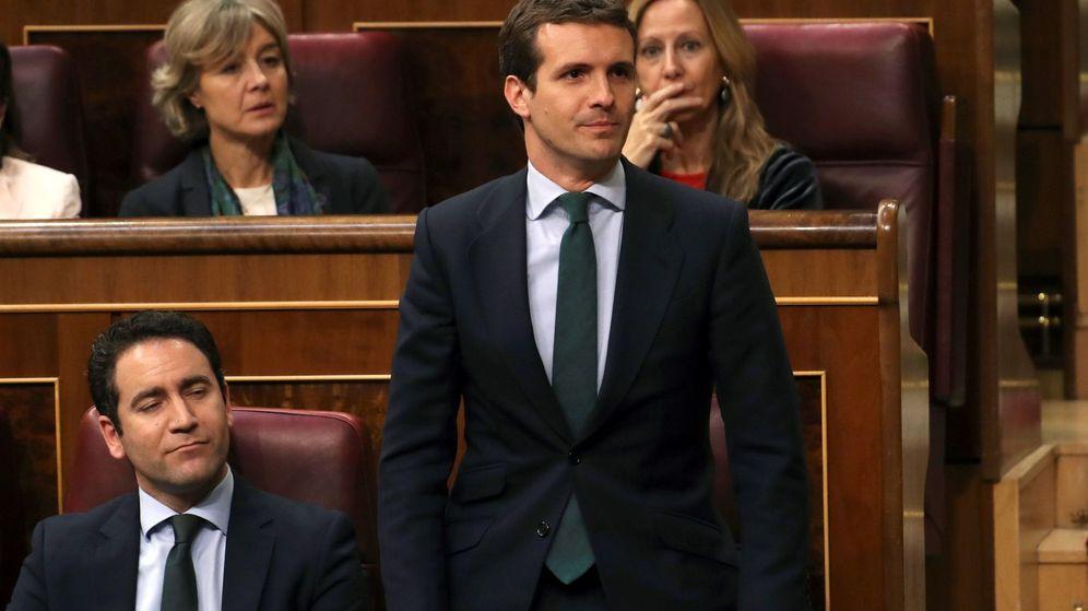 Foto: Pablo Casado, en el Congreso. (EFE)