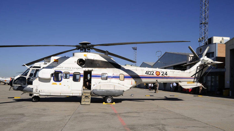 Uno de los Super Puma del 402 Escuadrón estacionado en Cuatro Vientos