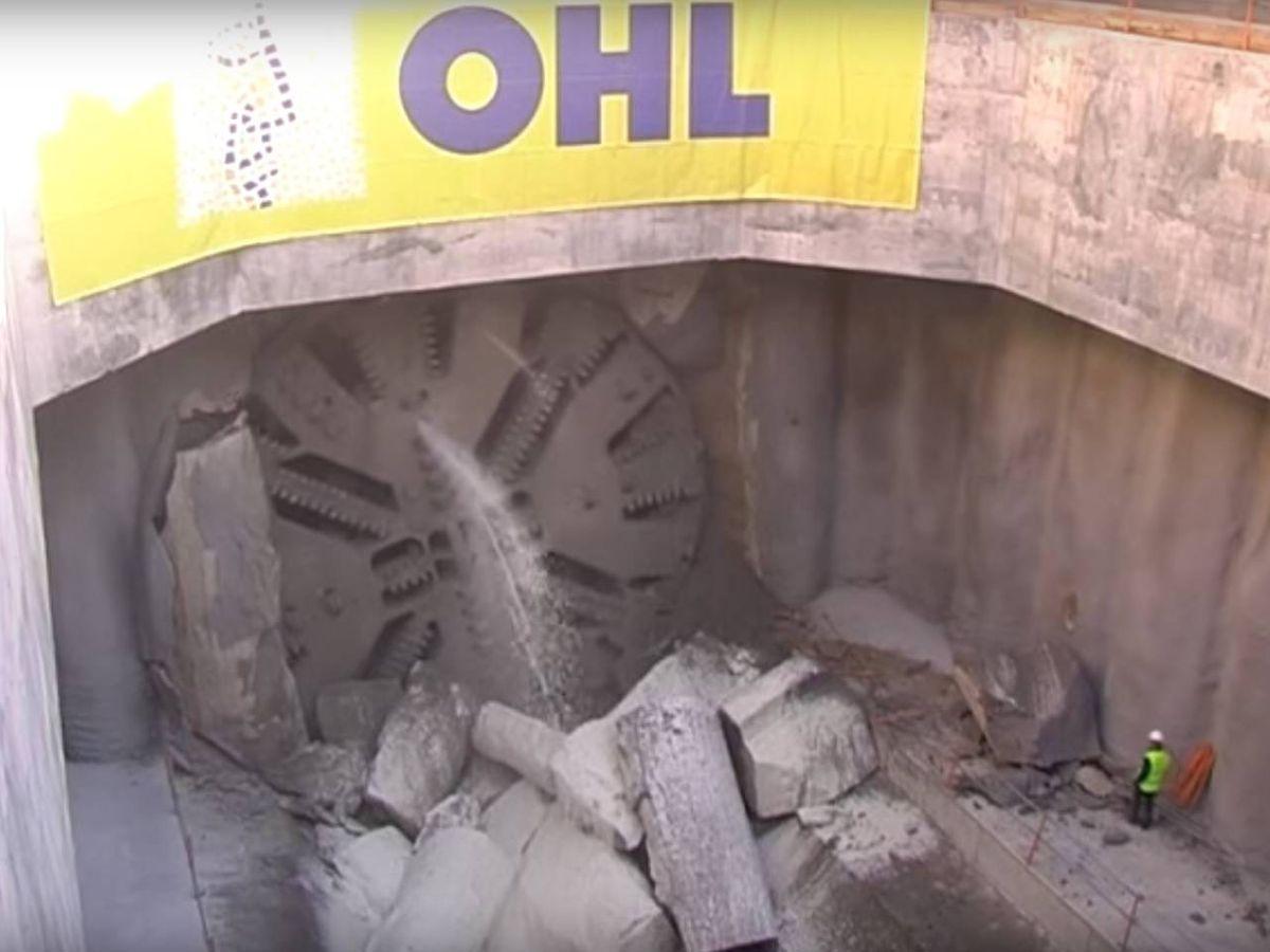 Foto: Tuneladora de OHL en las obras de la línea Móstoles-Navalcarnero.
