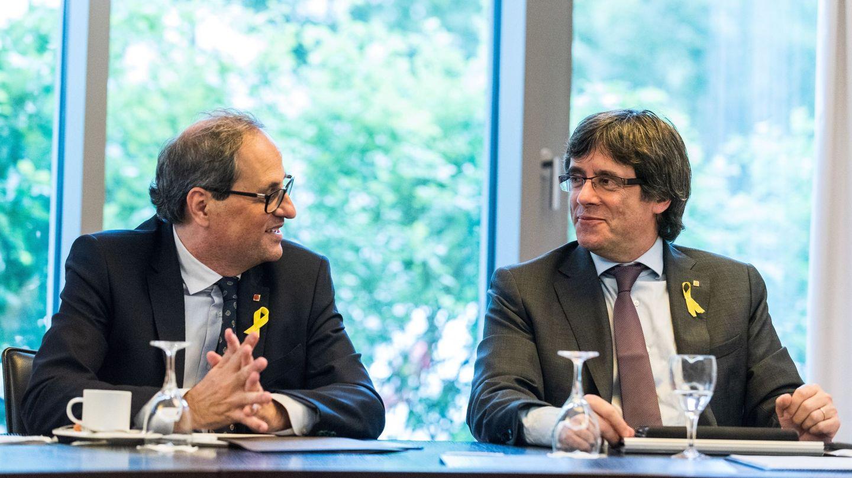 Quim Torra y Carles Puigdemont en Berlín. (EFE)