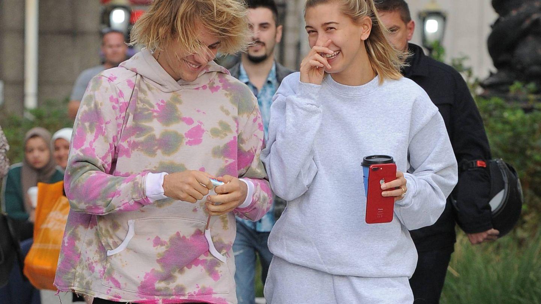 Bieber y Baldwin, tan cómodos. (sales@pacificcoastnews.com)