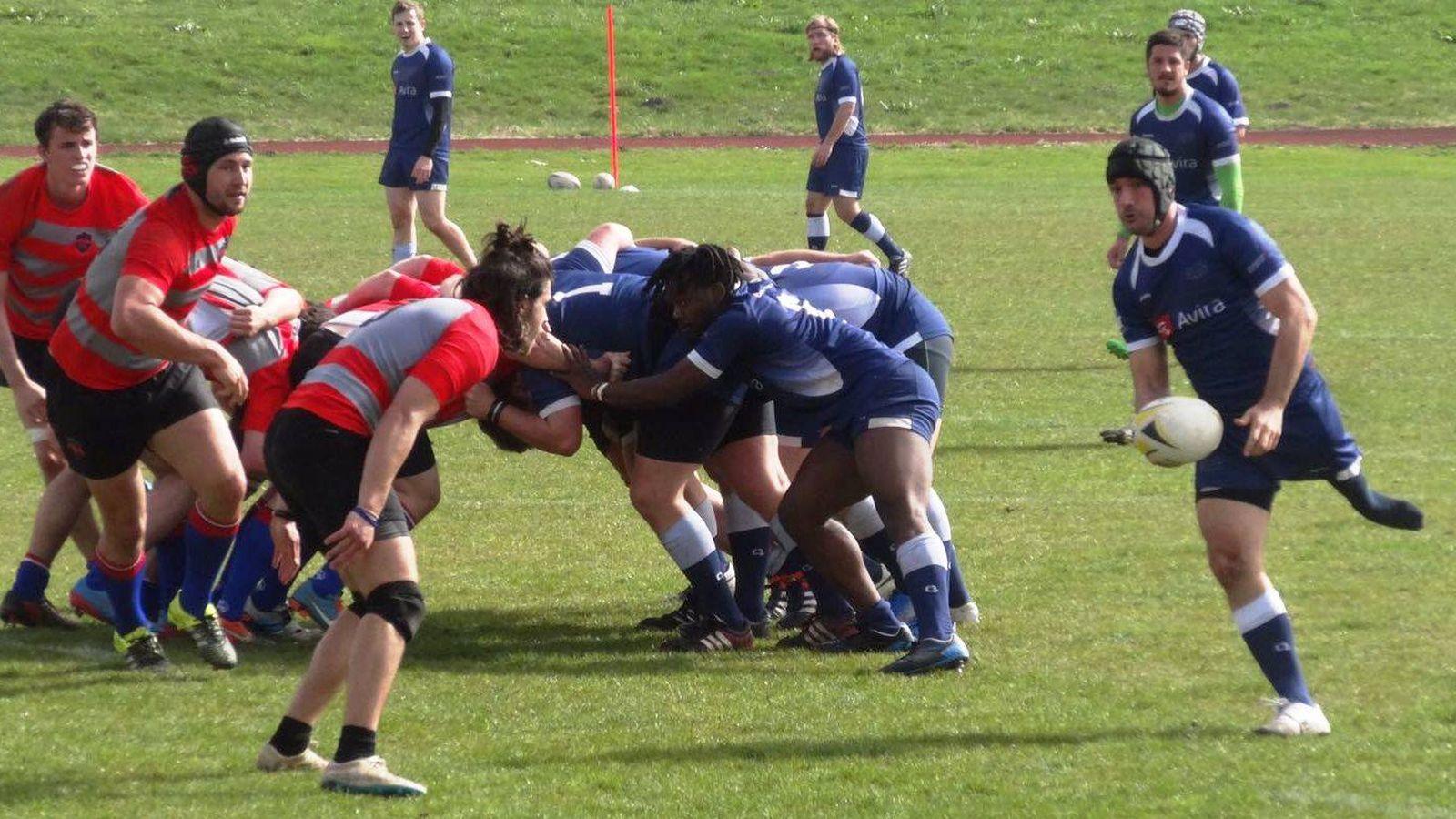 Foto: Nico Pueta, en un partido de rugby.