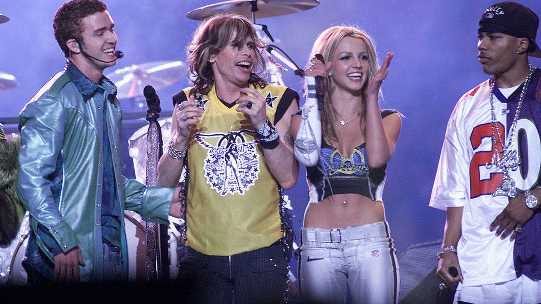 Britney, en la Super Bowl. (Getty)