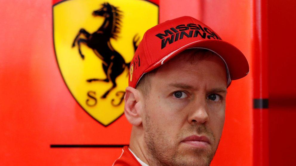 Cómo Sebastian Vettel 'pasa' de Charles Leclerc hasta que Ferrari luche de verdad