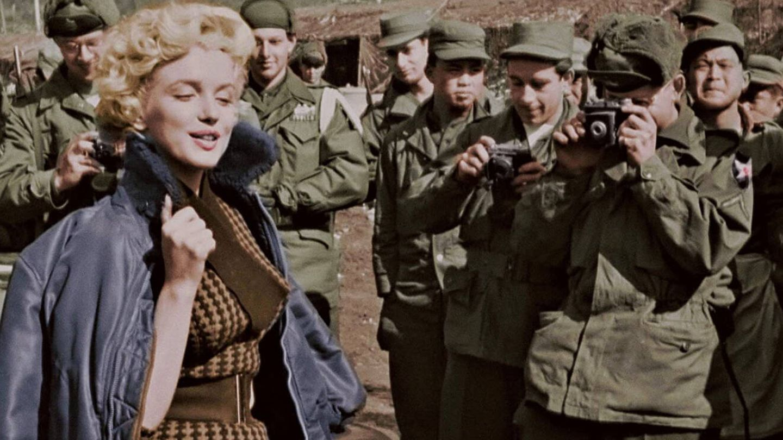 Marilyn Monroe visita a las tropas americanas en Corea. (RTVE)