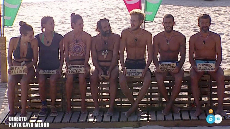 Los participantes de 'Supervivientes' en la décima entrega de 'Tierra de Nadie'.