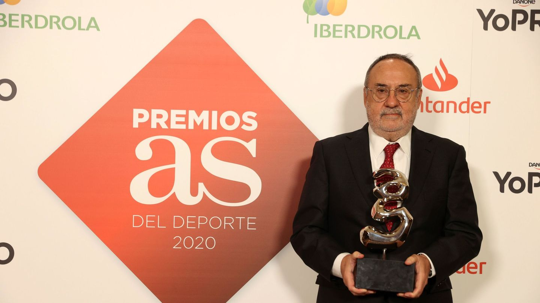 Relaño, en la gala de As de los premios del deporte. (EFE)