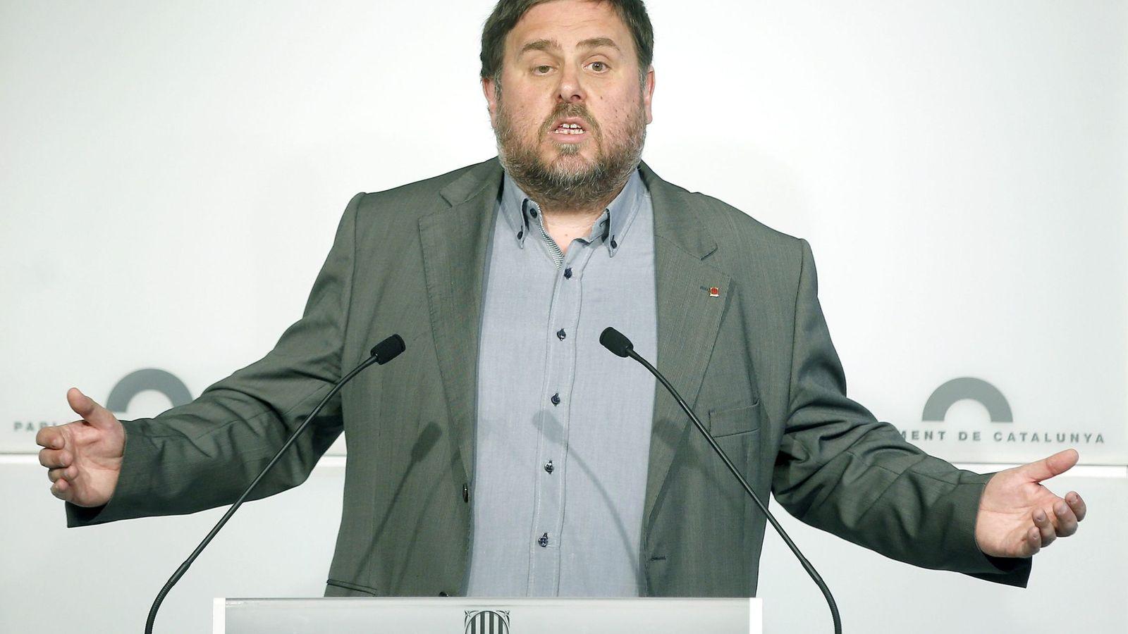 Foto: El 'conseller' de Economía de la Generalitat, Oriol Junqueras. (EFE)