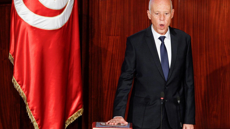 El presidente tunecino, Kais Saied. (Reuters)