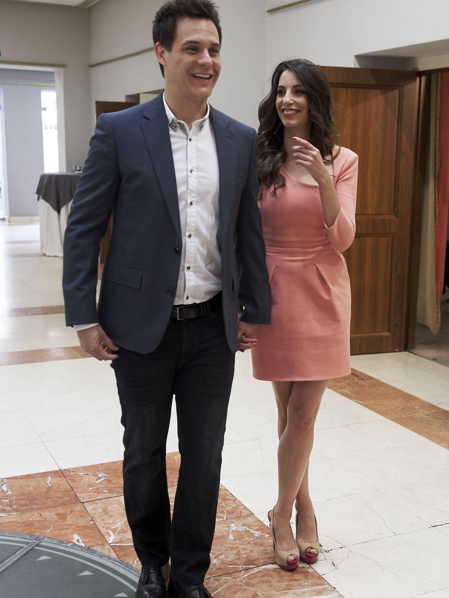 Christian Gálvez y Almudena Cid, en los Premios Concha García Campoy. (Getty)