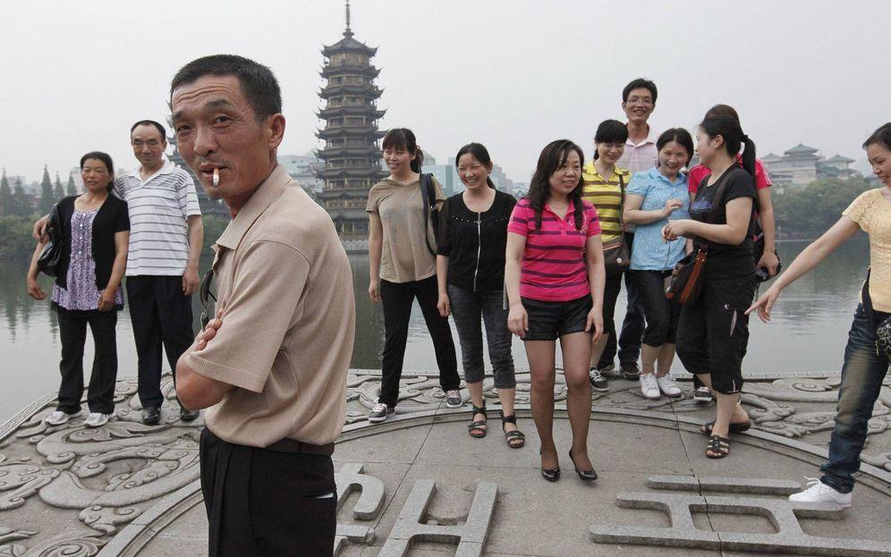 Foto: Un grupo de turistas chinos en Guilin (Efe).