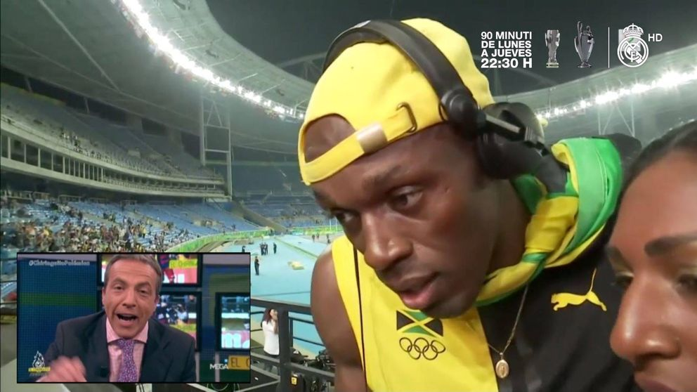La 'flipada' de Usain Bolt tras escuchar a Cristobal Soria